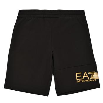 Vêtements Garçon Shorts / Bermudas Emporio Armani EA7 3KBS53-BJ05Z-1200 Noir / Doré