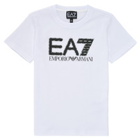 Vêtements Garçon T-shirts manches courtes Emporio Armani EA7 3KBT53-BJ02Z-1100 Blanc
