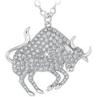 Montres & Bijoux Femme Colliers / Sautoirs Sc Crystal B2425-TAUREAU Argenté