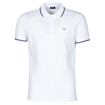 Vêtements Homme Polos manches courtes Diesel 00SW7C-0MXZA-100 Blanc