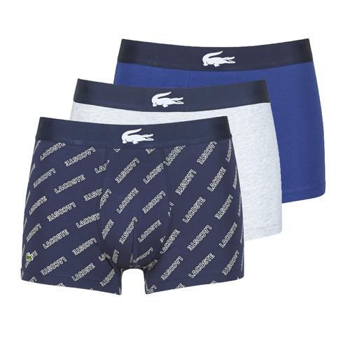 Sous-vêtements Homme Boxers Lacoste GHAFFO Marine / Blanc / Gris
