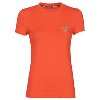 Vêtements Femme T-shirts manches courtes Guess SS CN MINI TRIANGLE TEE Rouge
