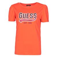 Vêtements Femme T-shirts manches courtes Guess SS CN MARISOL TEE Rouge
