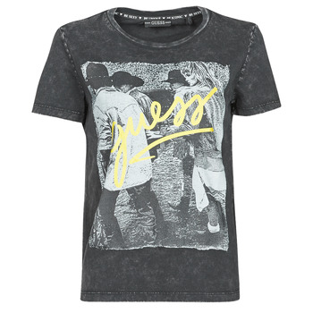 Vêtements Femme T-shirts manches courtes Guess SS CN PAULA TEE Noir