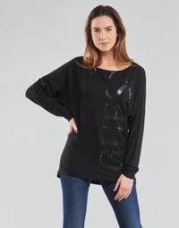 Vêtements Femme T-shirts manches longues Guess LS KAROLINA TEE Noir