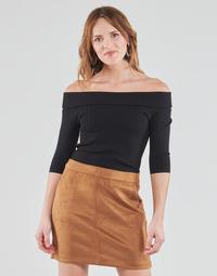 Vêtements Femme T-shirts manches longues Guess DAYNA OFF SHOULDER SWTR Noir