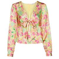 Vêtements Femme Tops / Blouses Guess NEW LS GWEN TOP Multicolore