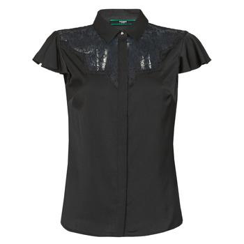 Vêtements Femme Tops / Blouses Guess SS RENATA TOP Noir