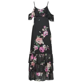 Vêtements Femme Robes longues Guess AGATHE DRESS Noir / Multicolore