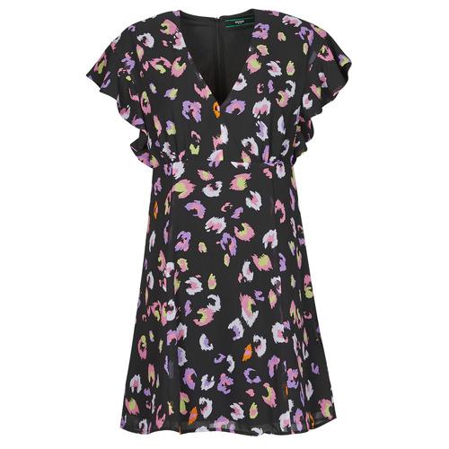 Vêtements Femme Robes courtes Guess AYAR DRESS Noir / Multicolore