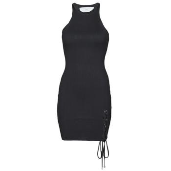 Vêtements Femme Robes courtes Guess ALEXA TIE DRESS Noir