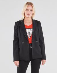Vêtements Femme Vestes / Blazers Guess MICAELA BLAZER Noir