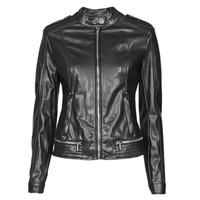 Vêtements Femme Vestes en cuir / synthétiques Guess NEW TAMMY JACKET Noir