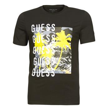 Vêtements Homme T-shirts manches courtes Guess CAMUSPACE CN SS TEE Noir / Multicolore