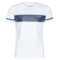 Vêtements Homme T-shirts manches courtes Guess CN SS TEE Blanc / Marine