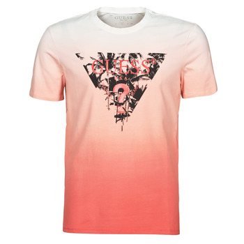 Vêtements Homme T-shirts manches courtes Guess PALM BEACH CN SS TEE Rouge
