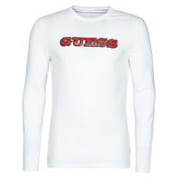 Vêtements Homme T-shirts manches longues Guess GUESS PROMO CN LS TEE Blanc