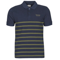 Vêtements Homme Polos manches courtes Guess CYMBELINE SS POLO Marine / Kaki