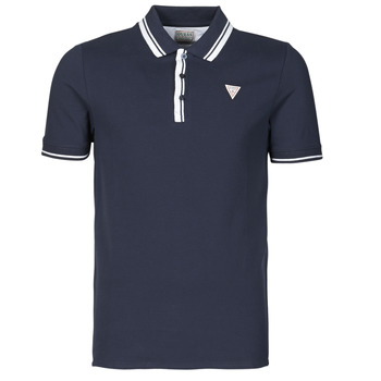 Vêtements Homme Polos manches courtes Guess SCOTT SS POLO Marine