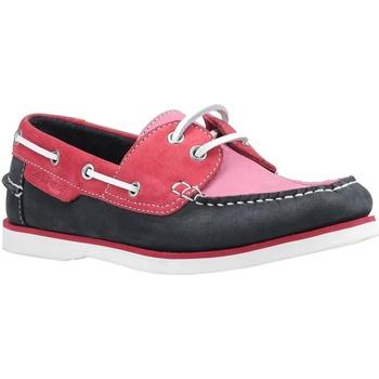 Chaussures Femme Chaussures bateau Hush puppies  Rose/bleu marine