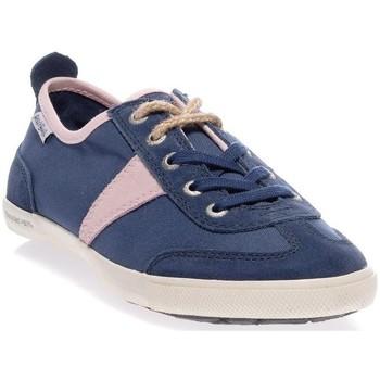 Chaussures Femme Baskets basses People'Swalk 54070BLEU/ROSE Bleu