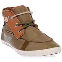 Chaussures Homme Baskets montantes People'Swalk 55434VERT VERT KAKI Vert