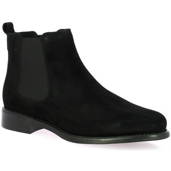 Chaussures Femme Bottines We Do Boots cuir velours Noir