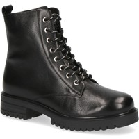 Chaussures Femme Bottines Caprice Bottines Talons Bas Noir Noir