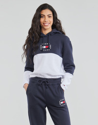 Vêtements Femme Sweats Tommy Jeans COLOR BLOCK HOODIE Marine / Blanc