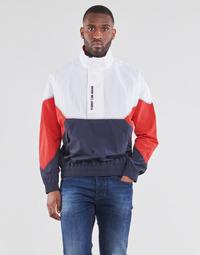 Vêtements Homme Blousons Tommy Jeans TJM LIGHTWEIGHT POPOVER JACKET Blanc / Rouge /Marine