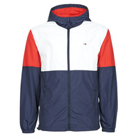 Vêtements Homme Coupes vent Tommy Jeans TJM NYLON COLORBLOCK WINDBREAKER Blanc / Rouge / Marine