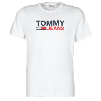 Vêtements Homme T-shirts manches courtes Tommy Jeans TJM CORP LOGO TEE Blanc