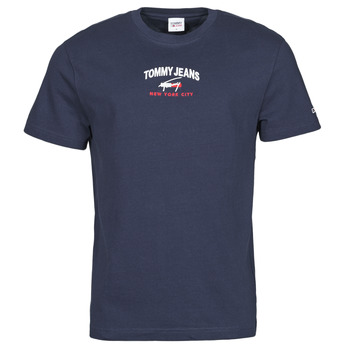Vêtements Homme T-shirts manches courtes Tommy Jeans TJM TIMELESS TOMMY SCRIPT TEE Marine
