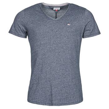 Vêtements Homme T-shirts manches courtes Tommy Jeans TJM SLIM JASPE V NECK Marine