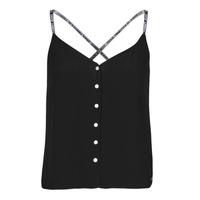 Vêtements Femme Tops / Blouses Tommy Jeans TJW CAMI TOP BUTTON THRU Noir