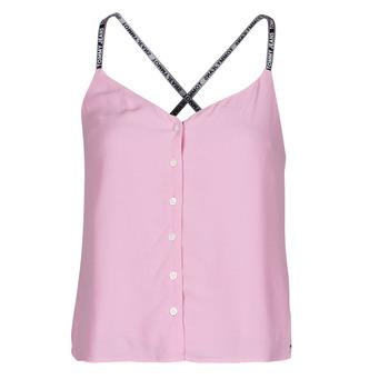 Vêtements Femme Tops / Blouses Tommy Jeans TJW CAMI TOP BUTTON THRU Rose