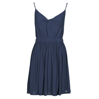 Vêtements Femme Robes courtes Tommy Jeans TJW ESSENTIAL STRAP DRESS Marine