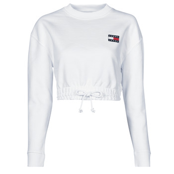Vêtements Femme Sweats Tommy Jeans TJW SUPER CROPPED BADGE CREW Blanc