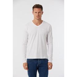Vêtements Homme T-shirts manches longues Lee Cooper T-shirt ESSY Black White