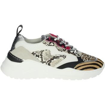 Chaussures Femme Baskets basses Meline 7071 Blanc/Fuchsia