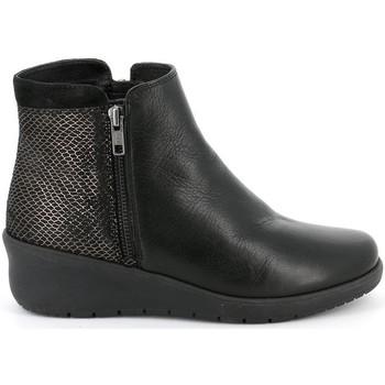Chaussures Femme Boots Grunland - Polacchino nero PO1489 NERO