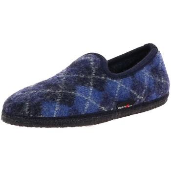 Chaussures Femme Chaussons Haflinger SLIPPER JAQUARD BLEU