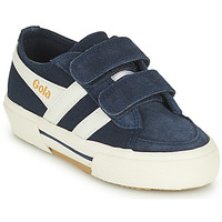 Chaussures Enfant Baskets basses Gola SUPER QUARTER VELCRO Marine / Blanc