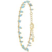 Montres & Bijoux Femme Bracelets Sc Bohème B2502-TURQUOISE Doré