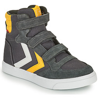 Chaussures Enfant Baskets montantes Hummel STADIL HIGH JR Gris / Jaune