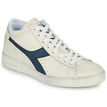 Chaussures Baskets montantes Diadora GAME L WAXED ROW CUT Blanc / Bleu
