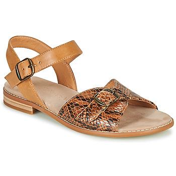 Chaussures Femme Sandales et Nu-pieds Karston XABERO Camel / Python
