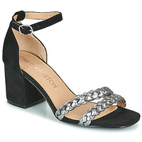 Chaussures Femme Sandales et Nu-pieds Karston POMELOS Noir / Argent
