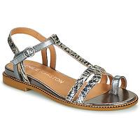 Chaussures Femme Sandales et Nu-pieds Karston SOREN Argent