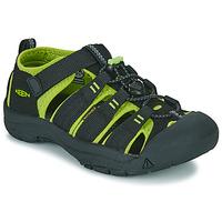 Chaussures Garçon Sandales sport Keen NEWPORT H2 Noir / Vert